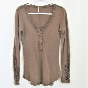 Free People Brown pullover top